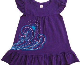 Gifts for baby girl Waves Baby Girl Organic Dress - Direct Checkout