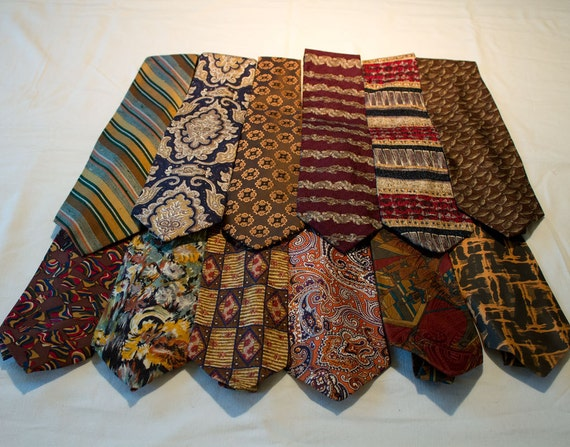 RESERVED FOR TRICIA - Neckties for crafting or wearing, many colors, silk, poly