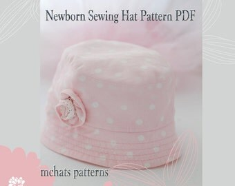 BABY hat pattern easy to sew PDF pattern oval brim not your usual bucket hat newborn sewing hat pattern