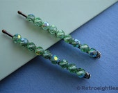 Pretty In Green - Beaded Bobby Pins (Small-Size)