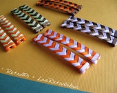 Set of Two (1 pair) - Custom 'No Tail' Braided Ribbon Barrettes - Mix or Match