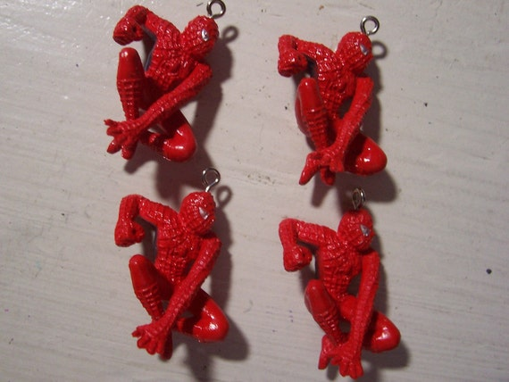 4 Spiderman Charms