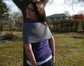 Hand Knit Luxurious Mobius Wrap/ Cowl in Sterling Grey