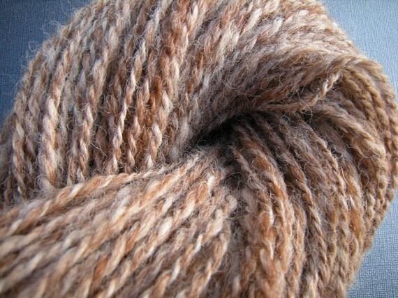 Heather Fawn - Hand Spun Alpaca Yarn - 163 yards - Worsted Weight