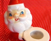 Vintage Santa Candle Ho Ho Holder