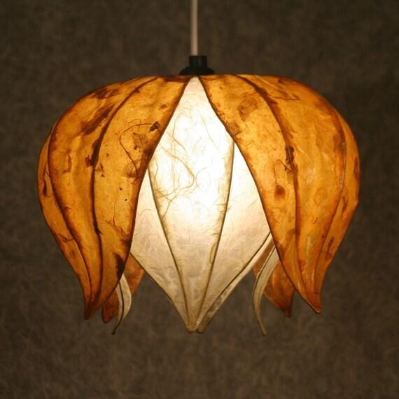 Hanging lotus flower shade for Light up flower lamp