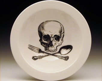 skull and cross utensils BOWL