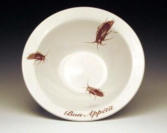 BON APPETIT cockroach cereal bowl