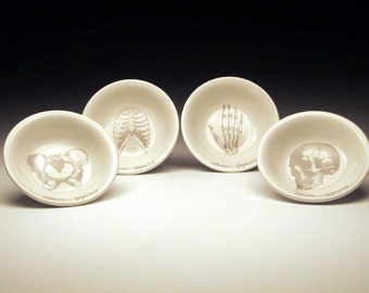 BONE APPETIT dipping bowl Set of 4 in GREY