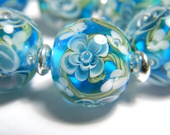 Handmade lampwork glass bead - Dipped in Ink - MADE TO ORDER