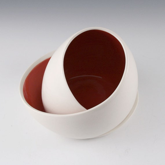 DISCOUNTED Egg Chair Sculpture in Red - second
