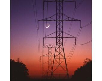 Moon and Venus Rising - 8 x 10 original fine art print from the award winning photographer