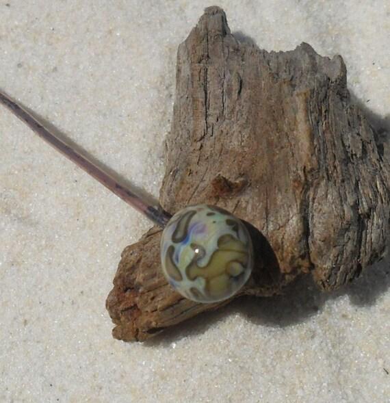 Lampwork Headpin,Copper Glass, Organic SRA