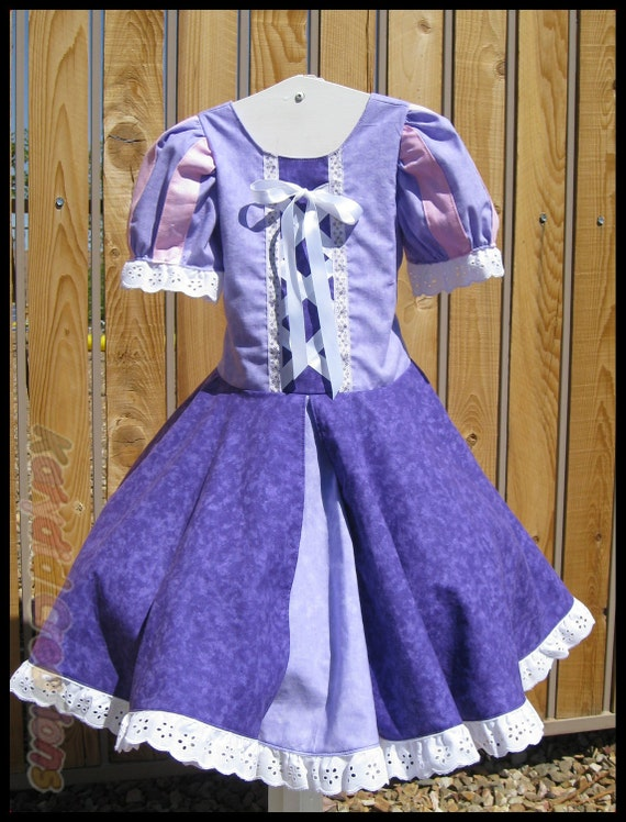 Tangled Inspired Princess Dress Costume