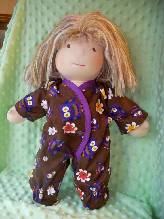 """Waldorf doll Footie Sleeper for a 15"""" doll"""