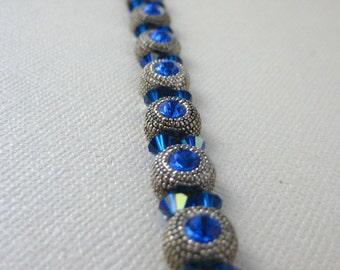 Blue classic sparkle bracelet