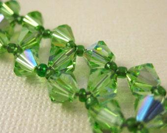 Green Crystal Sparkle Bracelet