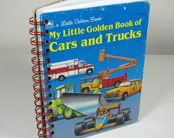 My Little Golden Book of Cars and Trucks Upcycled Lined Journal