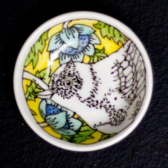 Salt plate - yellow Bird