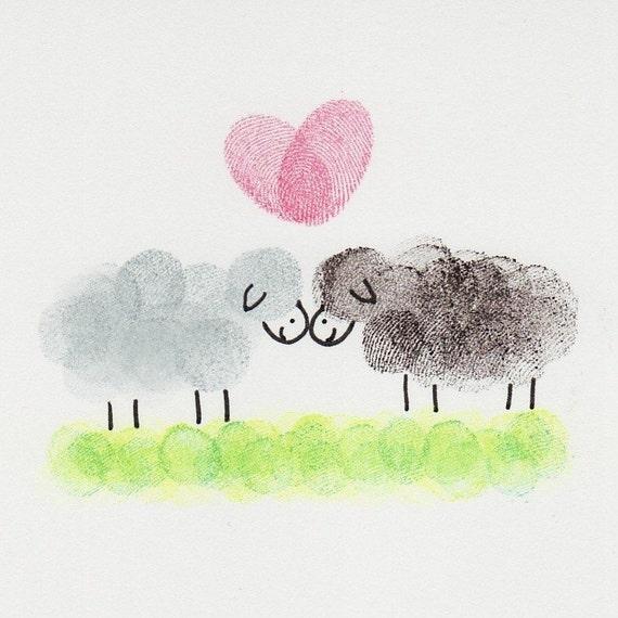 Sheep in Love Card