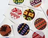 Set of 20 upcycled stickers - knitting themed