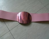 vintage pretty in pink 80s stretch belt