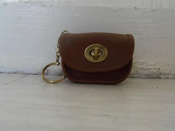 vintage adorable mini leather key chain