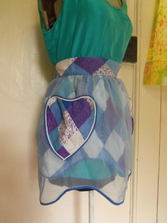 vintage layered precious heart pocket apron