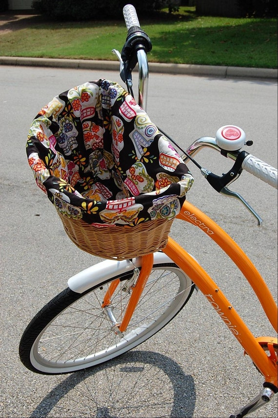 Handmade Bicycle Baskets : Custom bicycle basket lining by miamaria on etsy