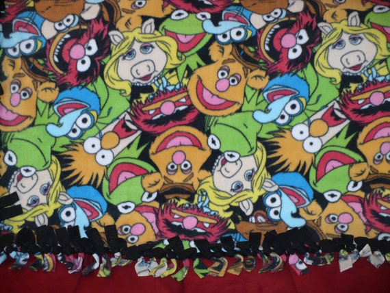 Muppets fleece LARGE tie blanket - PERSONALIZE for 5 dollars more