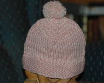 Pinkie Baby Handknit Hat, FREE SHIPPING