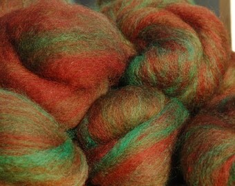 Moss and Rust Spinning Batts