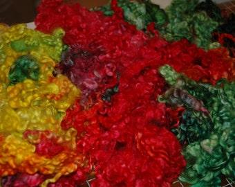 Rainbow-dyed Lamb's Locks, Tulip, 4ozs