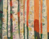 "Birch Trees Art Print - As seen on the set of ""Modern Family"" TV show"
