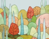 Lovely Landscape Art Print - Large - 11 x 14