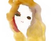 Golden Beauty Art Print - print of original watercolor
