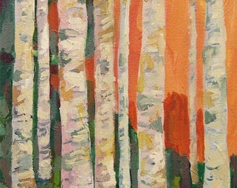 "Birch Trees Art Print - As seen on the set of ""Modern Family"" TV show"