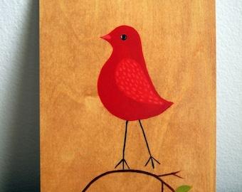 Stationary / Postcard / Blank Card - Little Red Bird Blank Postcard
