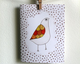 White Bird - Greeting Card - Blank Inside with matching white envelope