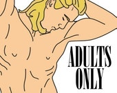 MATURE - The Man Candy Coloring Book - Adults Only