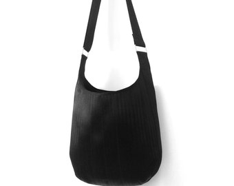 The Apostrophe Bag in Black - Crossbody Seatbelt Satchel