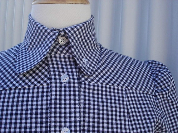 Sara Shirt in Navy and White Gingham
