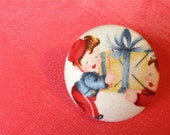 Valentine's Fabric Buttons Broach - Gift Delivery