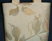 NEW REDUCED PRICE  Small Golden Floral Bag