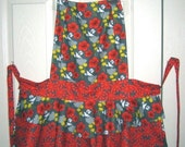 NEW REDUCED PRICE Flouncy Apron in Botanical Pop Fabric