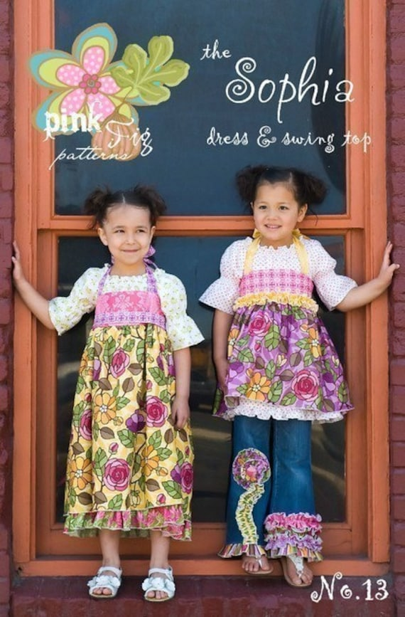 SALE - The Sophia Dress and Swing Top sewing pattern from Pink Fig Patterns