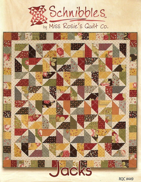 Jacks Schnibbles Quilt Pattern for Charm Packs from Miss Rosie's Quilt Co.