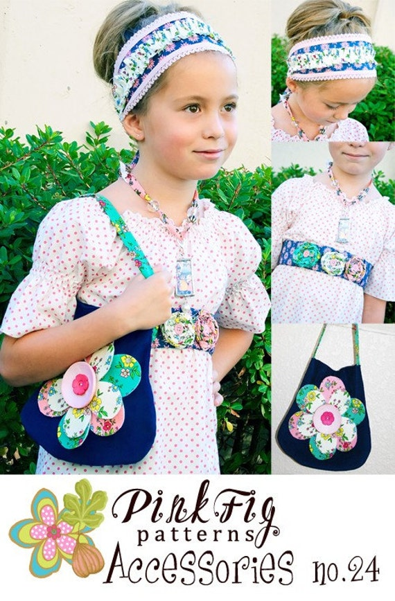 SALE - Accessories sewing pattern from Pink Fig Patterns