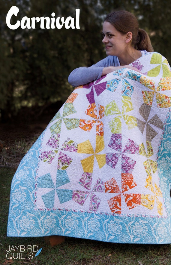 Carnival quilt pattern from Jaybird Quilts - baby, lap