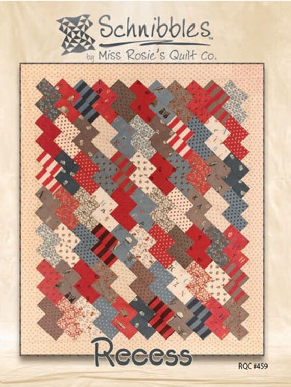 Recess Schnibbles Quilt Pattern for Charm Packs from Miss Rosie's Quilt Co.